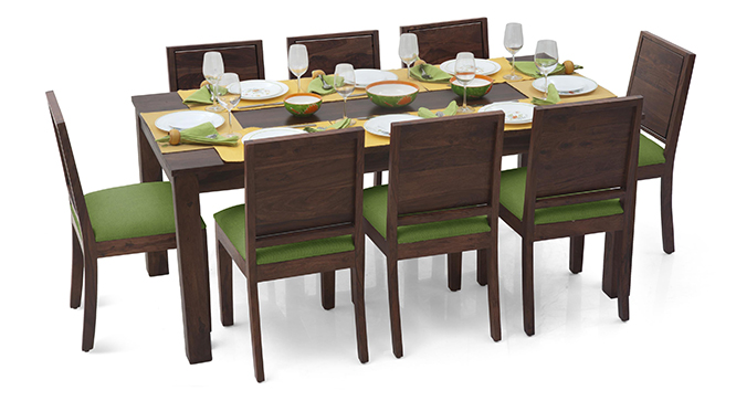 Phobia 8 Seater Dining Table Set(Mahogany)