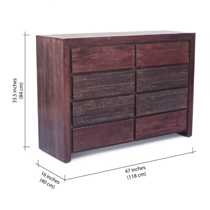 August Chest of Drawers Walnut