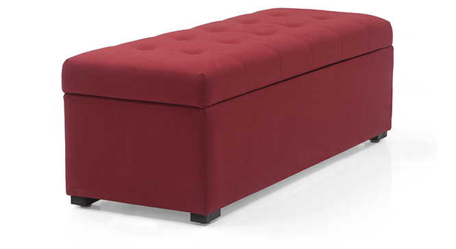 Savron Upholstered Storage Bench(Sangeria Red)