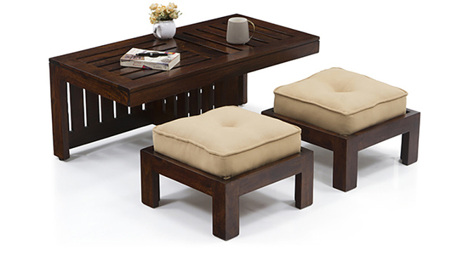 Caffino Coffee Table Set(Ebony&Beige)