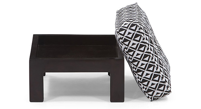 Caffino Coffee Table Set(Ebony&Black&White)