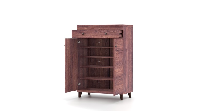 Melano 15 Pair Shoe Cabinet With Drawer(Walnut)