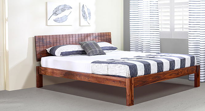 Valencia Bed (Teak Finish) Queen Size