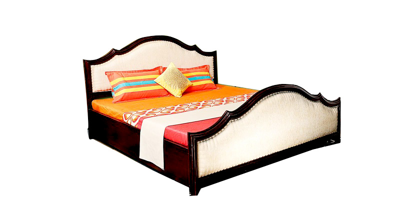 Orevon King Size Bed with Storage in Passion