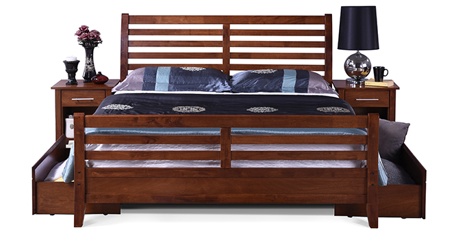 Remont Storage Bed Queen Size(Teak Finish)