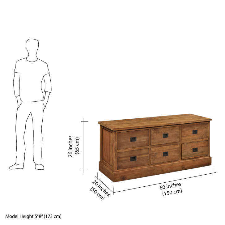 Rhome Chest Of Drawers (Brown)