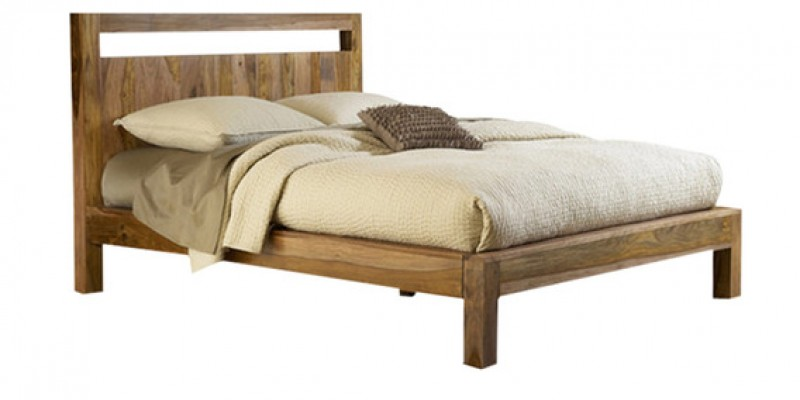 Sophia Solid Wood Queen size Bed without storage