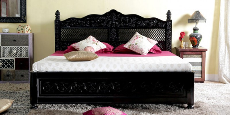 Abigail Queen Size Bed with storage