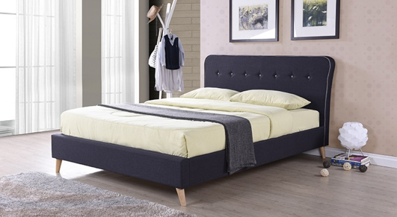 CARBON UPHOLSTERED BED Queen Size