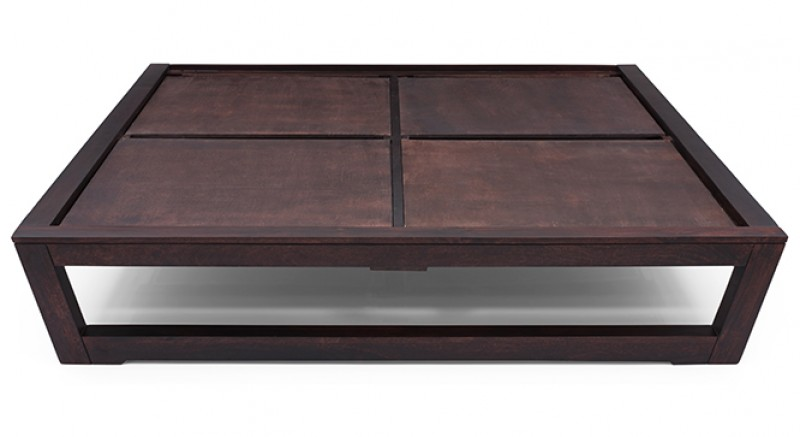Caprica Bed Queen size (Mahogany Finish)