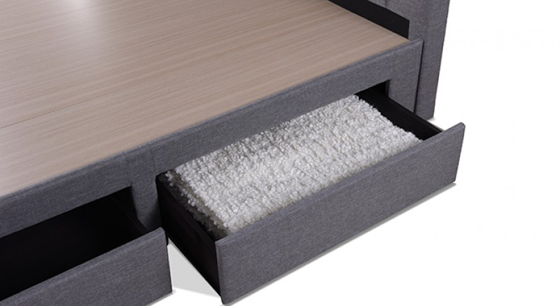 Linacre Upholstered Storage Bed King Size