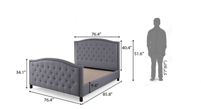 Rother Upholstered Bed King Size